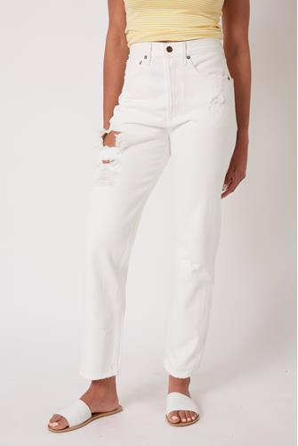 90's Mid Rise Loose Fit Jean in Hail WHITE