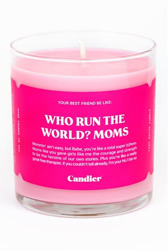 Who Run The World? Moms Candle 9 oz. PINK