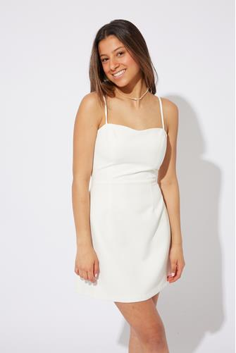 White Tie Back Whisper Dress WHITE