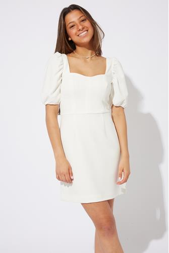 Berina Whisper Solid Mini Dress WHITE