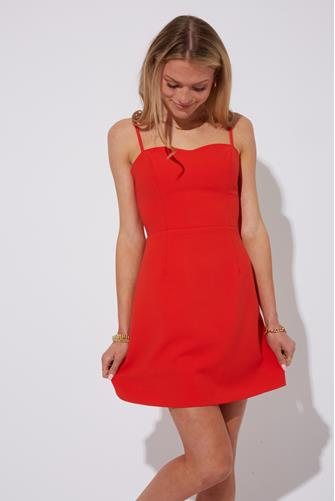 Flame Tie Back Whisper Dress RED