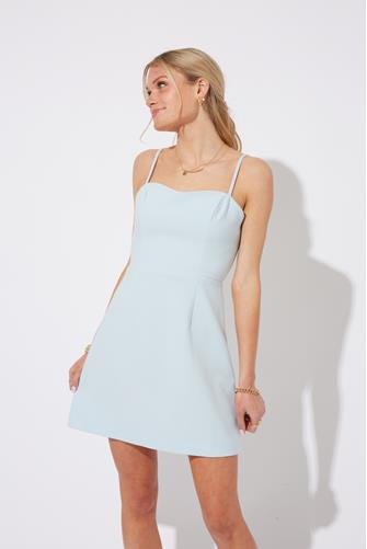 Dream Blue Whisper Tie Back Dress LITE BLUE