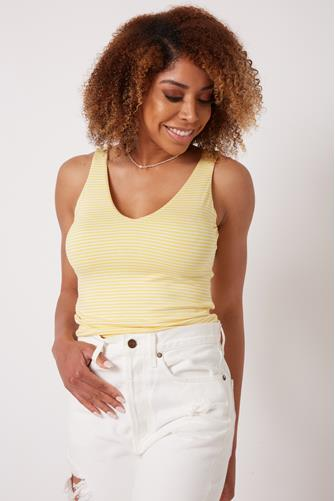 Fitted V-Neck Tank Top MULTI