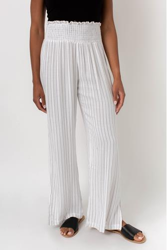 Stripe Gauze Wide Leg Pant WHITE MULTI -
