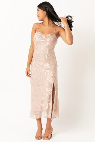 Light Pink Gaia Solid Midi Dress LITE PINK