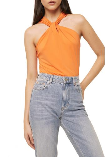 Panthea Twist Halter Top ORANGE