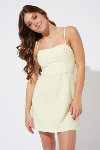 Yellow Whisper Light Sweetheart Dress YELLOW
