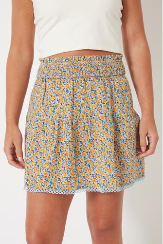 Baby Blue Printed Skirt BLUE MULTI -