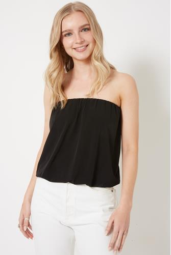 Solid Tube Top BLACK