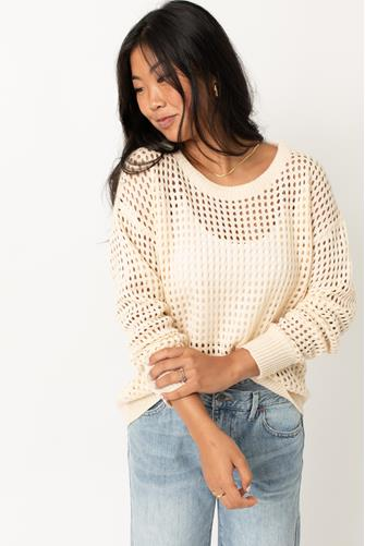 Open Knit Pullover IVORY
