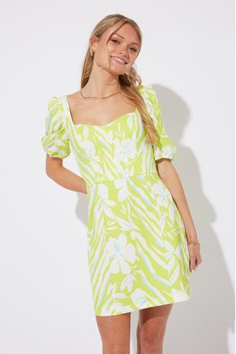 Brina Whisper Printed Dress GREEN