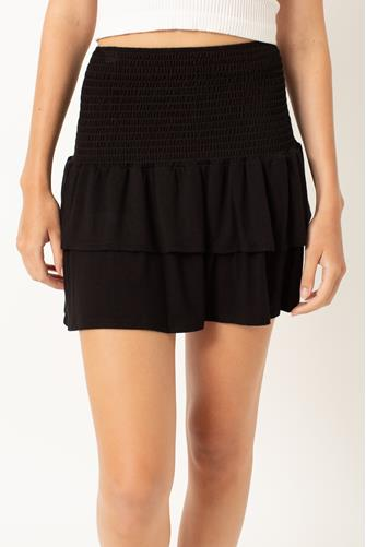 Valentina Knit Skirt BLACK