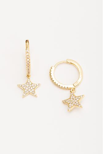 She's A Star Huggie Earrings GOLD