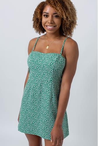 Elao Print Mini Dress GREEN MULTI -