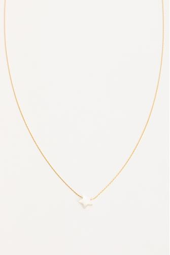 Mother Of Pearl Star Necklace GOLD