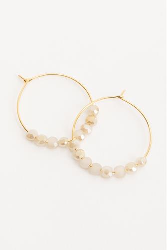 Glimmer Cloud Hoop Earrings GOLD