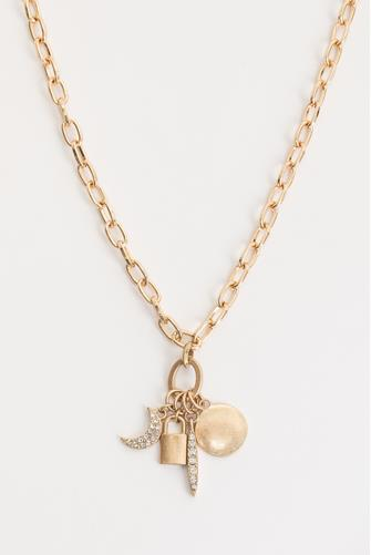 Multi Charm Necklace GOLD
