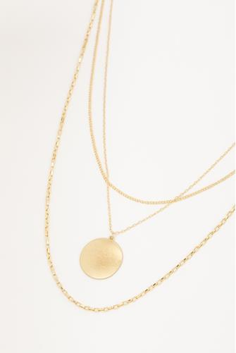 Medallion Multi Chain Necklace GOLD