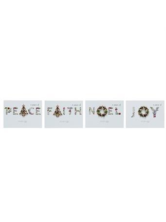 TRANSPAC - Christmas Glitz Pins PEACE