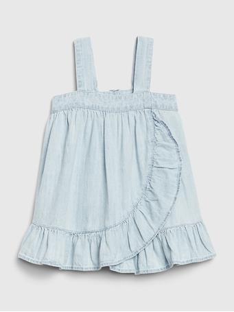 GAP -  Baby GAP Denim Ruffle Dress LIGHT WASH