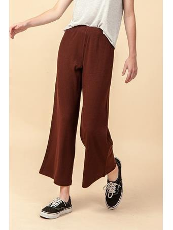 DOUBLE ZERO - Wide Let Pull On Pant DK BROWN