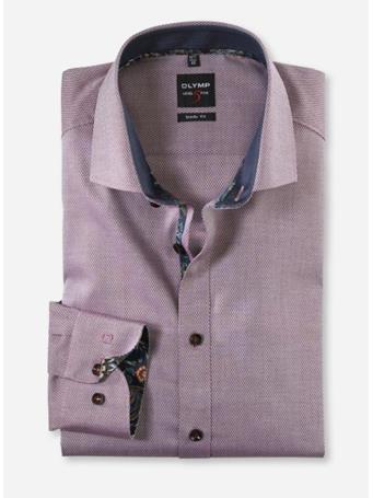 OLYMP - Long Sleeve Dress Shirt Royal Kent MAROON