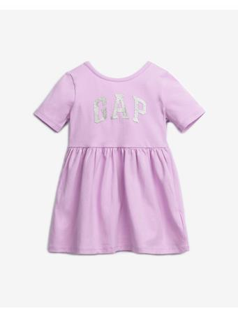 GAP - GAP Logo Toddler Short Sleeve Dress PURPLE ROSE
