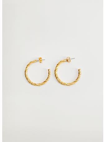 MANGO - Rosa Hoop Earrings GOLD