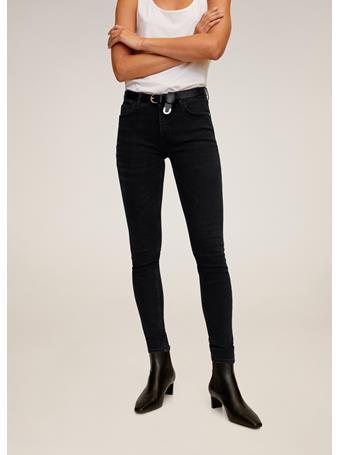 MANGO - Kim Skinny Push-Up Jeans BLACK