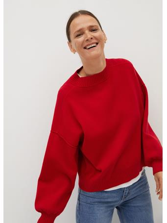 MANGO - Ylenia Oversize Sweater BRIGHT RED