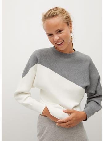 MANGO - Space Sweater MEDIUM GREY