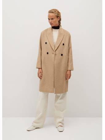 MANGO - Bartoli Wool Coat MEDIUM BROWN