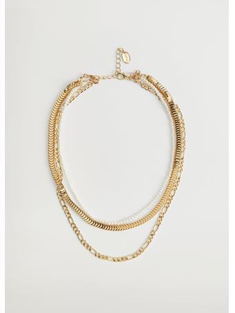 MANGO - Jones Pendant Necklace GOLD