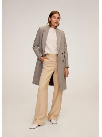 MANGO - Dali Wool Coat MEDIUM BROWN