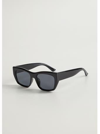 MANGO - Danae Squared Sunglasses BLACK