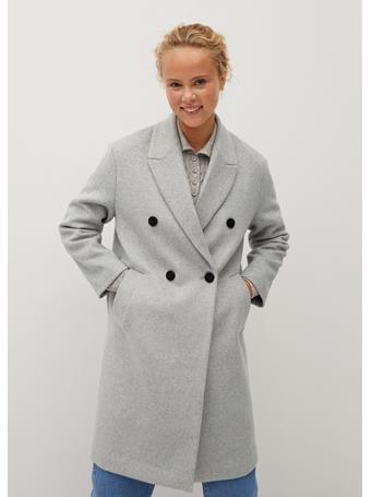 MANGO - Bartoli Wool Coat LT PASTEL GREY