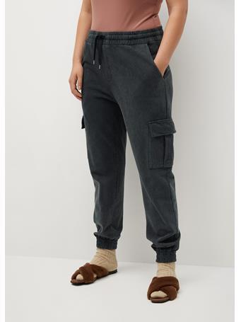 MANGO - Cotton Cargo Trousers LT PASTEL GREY