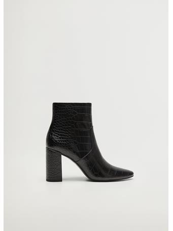 MANGO - Caleo Pointed Heel Ankle Boot BLACK