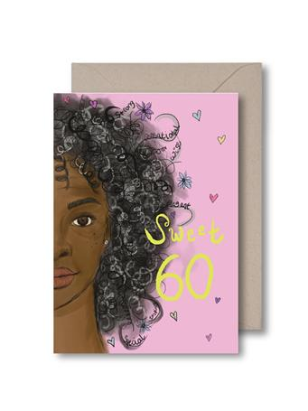 KITSCH NOIR - Sweet Sixty Birthday Card NO COLOR