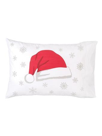 C&F - Santa Hat Pillowcase WHITE