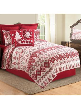 C&F - Kristoff Nordic Quilt Set RED