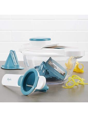 AYESHA CURRY COLLECTION - 5-in-1 Mandolin & Spiralizer Set - Teal No Color