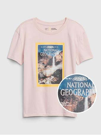 GAP - GapKids | National Geographic Organic T-Shirt MISTY ROSE