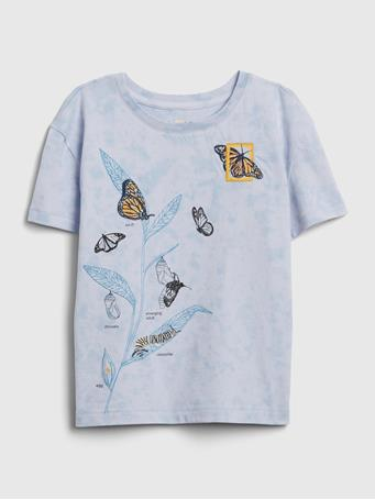 GAP - GapKids | National Geographic Organic T-Shirt BLUE DIP DYE