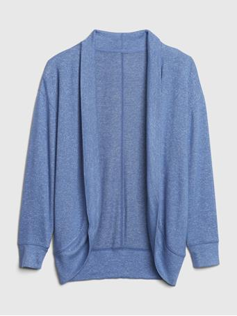 GAP - Kids Softspun Cardigan BAINBRIDGE BLUE