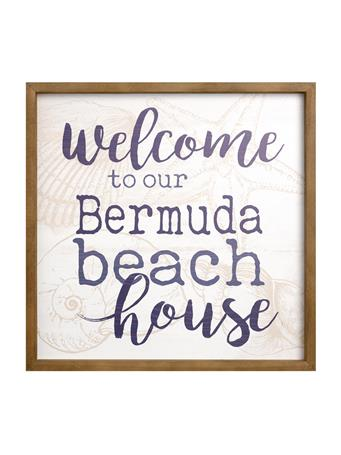 Welcome To Our Bermuda Beach House Sign No Color