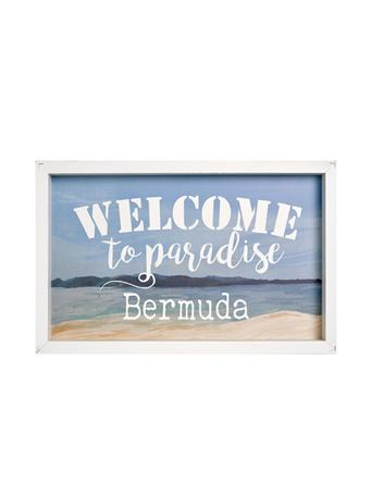 Welcome To Bermuda Framed Wooden Art No Color