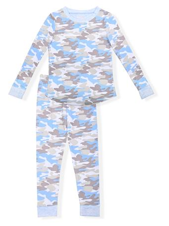 SLEEP ON IT - Fitted Camo Pajamas (4-6) BLUE