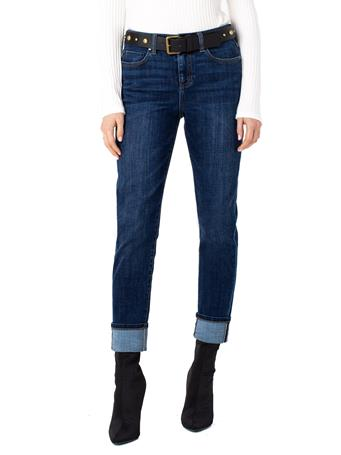 LIVERPOOL JEANS - Marley Girlfriend Cuffed With Belt CASARES