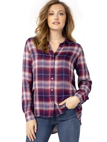 LIVERPOOL JEANS - Oversized Button Back Plaid Shirt MULIT COL PLAID